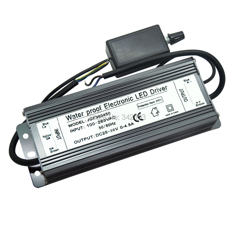IP67 Waterproof 150W Dimmable Dimming Electronic LED Driver DC25V-36V 0-4.5A Power Supply Converter Led Lighting Transformers 150w dimmable electronic led driver ip67 waterproof lighting transformers dc 30v 42v 0 3 5a for 150w high power cree led light
