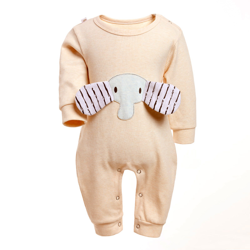 Baby Jumpsuit Newborn Clothes Romper Infant Onepiece Boys Girls O-neck Cotton Children Outwear Elephant 6-12 Months Babies Wear