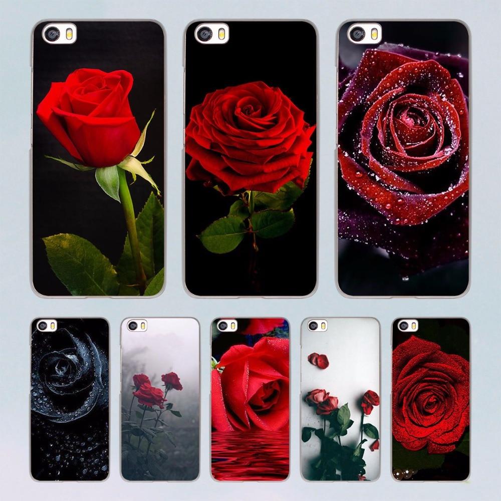Red Rose Flowers HD Wallpaper design transparent clear hard Case for Xiaomi Mi 5 5s Plus 4 4s redmi note 4 3 4Pro