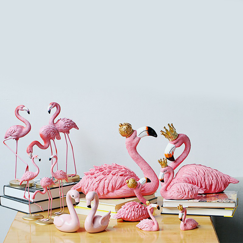 King and Queen Ins Flamingo Decoration For Living Room Romatic Wedding Ornament Accessories Birthday Party Home Garden Supplies
