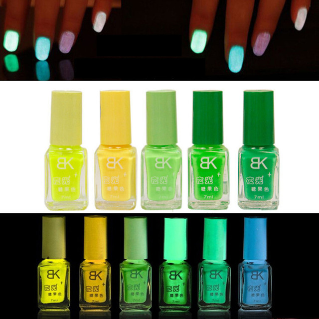 20 Colors series of New Fluorescent Neon Luminous Gel UV 7 ml Nail Art Gel Nail Polish for Shiny Glow in Dark