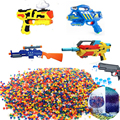 Hot 3000pcs 300pcs=1 set Soft Crystal Water Paintball Bullet Gun Toy Nerf Bibulous Water Gun Accessories 7 Colors Free Shipping