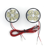 Eonstime 2 stks 12 V Wit 4LED 4 W Car Auto Dagrijverlichting Fog Drl LED Driving Lamp 6000 K-7000 K