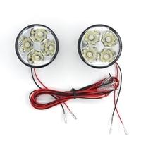 Eonstime 2 unids 12 V Blanco 4LED 4 W Car Auto DRL LED de Conducción Diurna Luz de Niebla de Conducción de La Lámpara 6000 K-7000 K