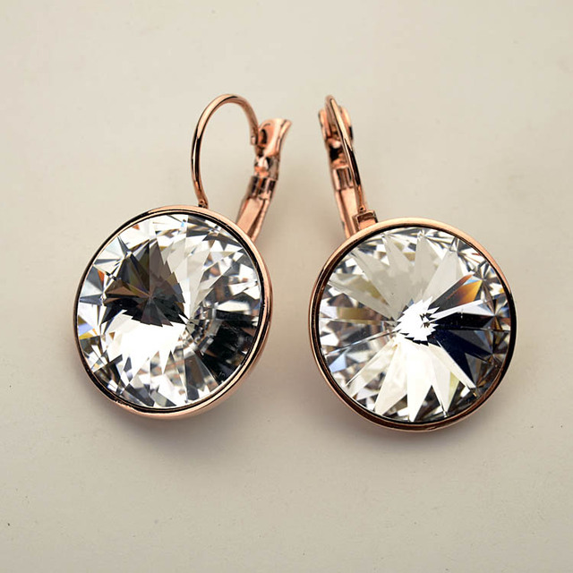 Fashion imported Austria crystal cz diamond earrings high-end female long exaggerated temperament big earrings