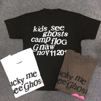 Kanye West Kids See Ghosts Men T Shirt Round Neck tee Hip hop Fashion New Arrived Magpie Streetwear Top T Shirt