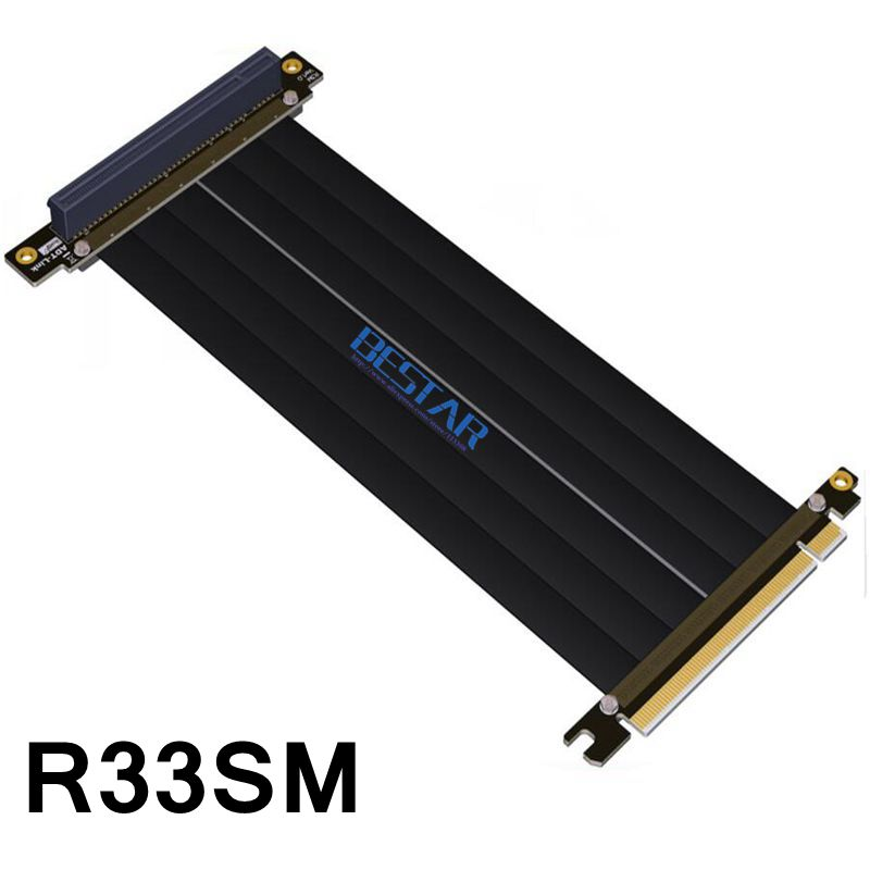PCIe 3.0x16 Gen3 128G pour CM VGA Cooler Master vertical graphique porte-carte kit ITX carte mère boîtier PCI-e 16x rallonge