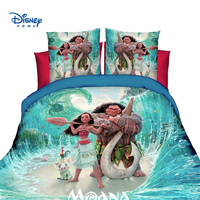 Moana bedding set disney hero baymax frozen mcqueen cars flat bed sheet set 2/3/4 pcs duvet cover pillow case cool boy girl gift