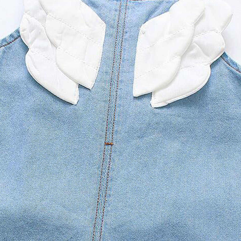 Babyinstar chico overoles de mezclilla para niños ropa de bebé niñas alas de Ángel detalle Mono para niñas de la ropa de los niños