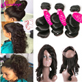 Malaysian Loose Wave With Closure 360 Lace Frontal Closure With Bundles 3 bundles With Frontal Closure Loose Wave With Frontal