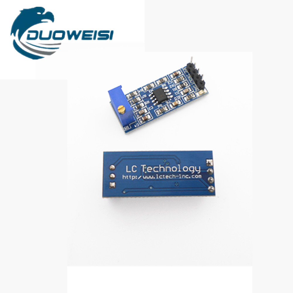 1pcs New Lm358 100 Times Gain Signal Amplification Module Operational Amplifier Dc5 Op Amp Dc Weak Acquisition Adjustable In Replacement Parts From Consumer Electronics On