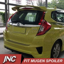 Rear Trunk Spoiler Wings For Honda FIT JAZZ 2014 2015 2016 ABS Plastic Material Car Spoiler For Fit JAZZ Car Spoiler Mugen Style
