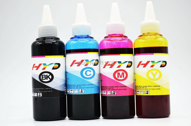 Hyd 4x100ml Photo Dye Ink For Epson Picturemate Pm 400 Personal