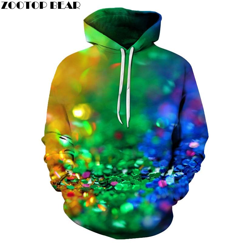 Shining Beads Fashion Hoodies 2018 New Hoody Sweatshirt Mens Tracksuit Pullover Clothing Drop Ship Streetwear ZOOTOP BEAR