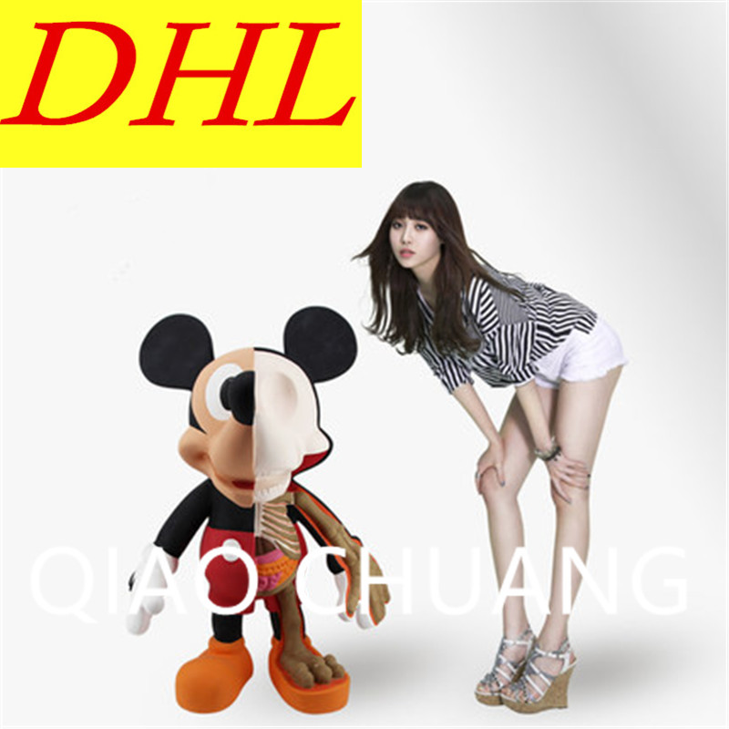 102CM Street Art Medicom Toy Dissection Mickey Mouse Cosplay KAWS PVC Action Figure Collection Model Toy G1202 28 70cm 1000% bearbrick be rbrick attack on titans action toy figure medicom toy art work great gift for friends