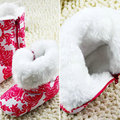 Baby Shoes Infants Crochet Knit Fleece Boots Toddler Girl  Wool Snow Crib Shoe Winter Booties
