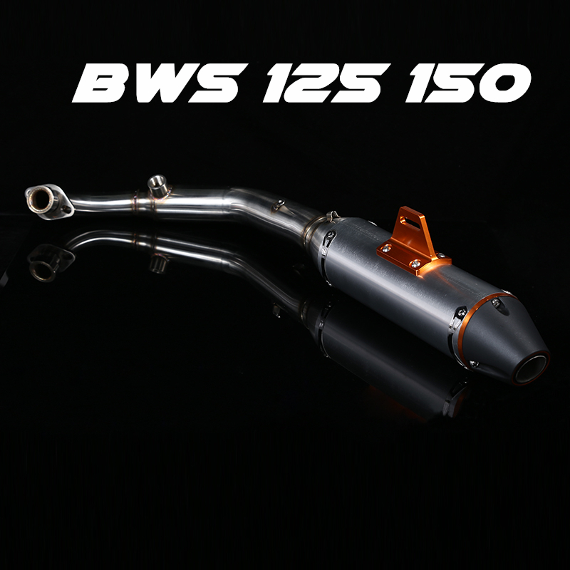 BWS125 motorcycle exhaust full system Middle Link Pipe + Muffler for yamaha BWS 125 150 M3 Slip-On