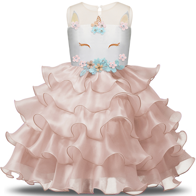 fancy unicorn party costume elegant tutu dresses summer