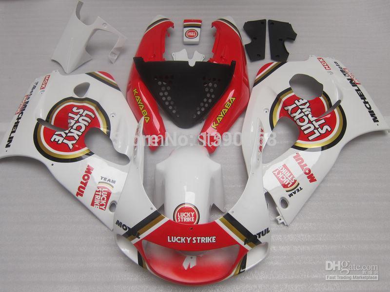 Luckystrike обтекатель комплект для SUZUKI srad Обтекатели 1996 1997 1998 1999 2000 GSXR600 srad GSXR750 96 97 98 99