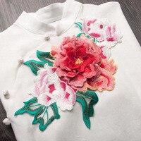 3d hoa mẫu đơn ren vá máy tính vải đính thêu hoa quần áo sân khấu diy may áo phụ kiện trang trí