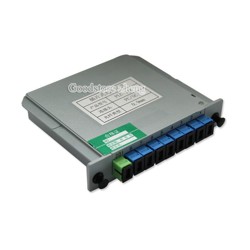 SC/UPC 1*8 Module PLC Fiber Optical Splitter SC/FC/ST/LC Connector PLC Splitter vinshine fc sc 70 10dbm pwa001