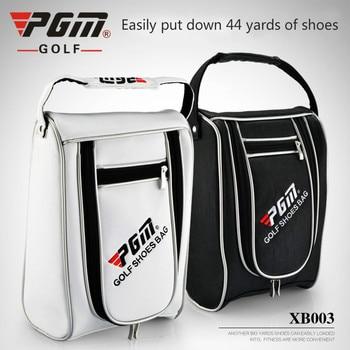 Price PGM Top Quality PU Golf Clothing Bag Big Capacity Durable Golf Shoes Bag Men Women Portable Golf Handbag For Shoes D0484