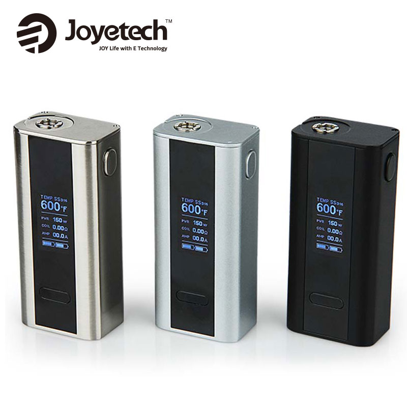 100% original joyetech Cuboid TC mod 150 W VW mod control de temperatura alimentado por 2 reemplazable 18650 Baterías electrónica CIG TC mod