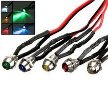 New 5colors LED Indicator Light Lamp Bulb Pilot Dash Directional Car Truck Boat 12V 6mm