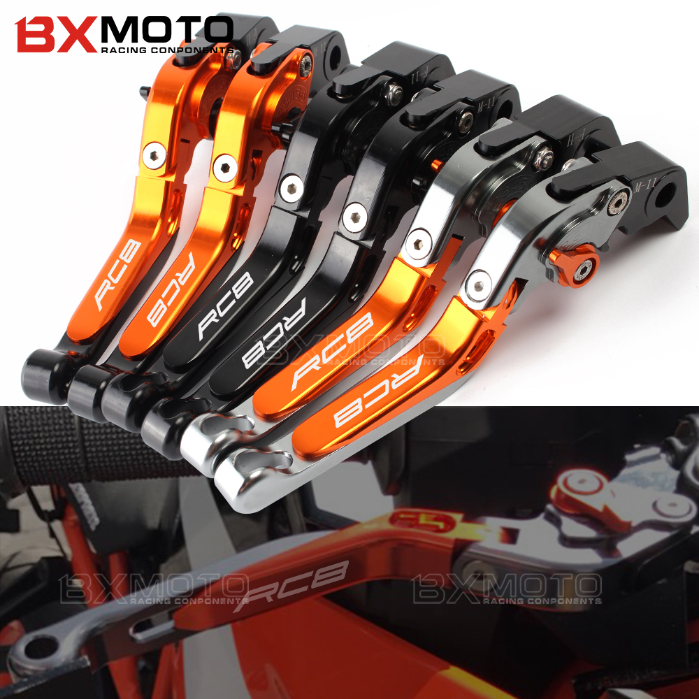 Motorcycle lever CNC Adjustable Foldable Lengthening aluminum brake clutch levers For Ktm RC8 RC8R RC 8 8R 2009-2014 2015 2016 cnc motorcycle front brake clutch lever adjustable lever