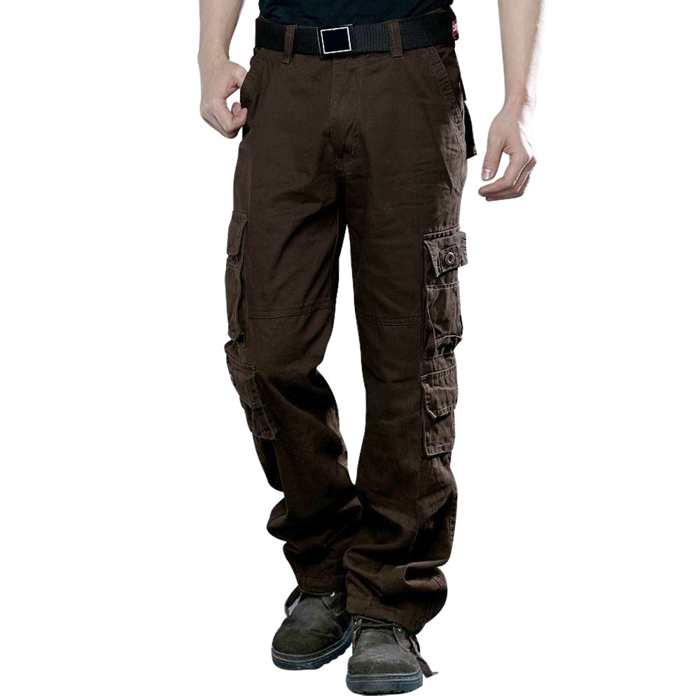 2018 Brand New Style Tactics Military Trousers Tactics Army Cotton Cargo Pocket Pants Casual Loose Trousers Plus Size 28-46