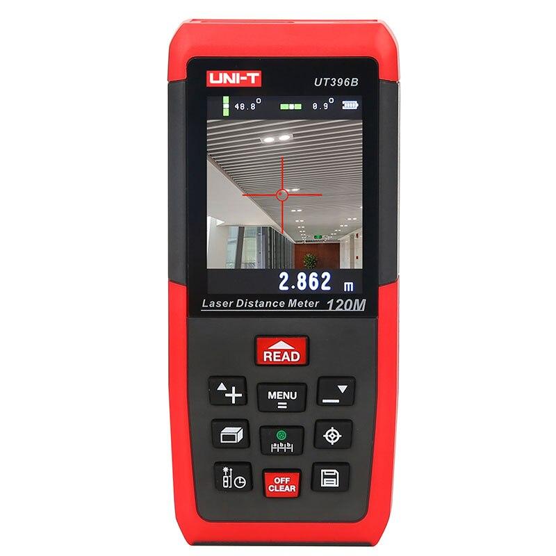 UNI-T UT396B Laser Distance Meters 120m Laser Rangefinder 2MP Camera Lofting Test Levelling Instrument Area/Volume Data Storage