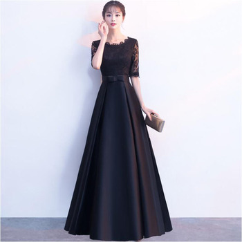 Evening Dress Lace A Line Half Sleeves Formal Dress Evening Party Gown Occasion Dresses Robe De Soiree