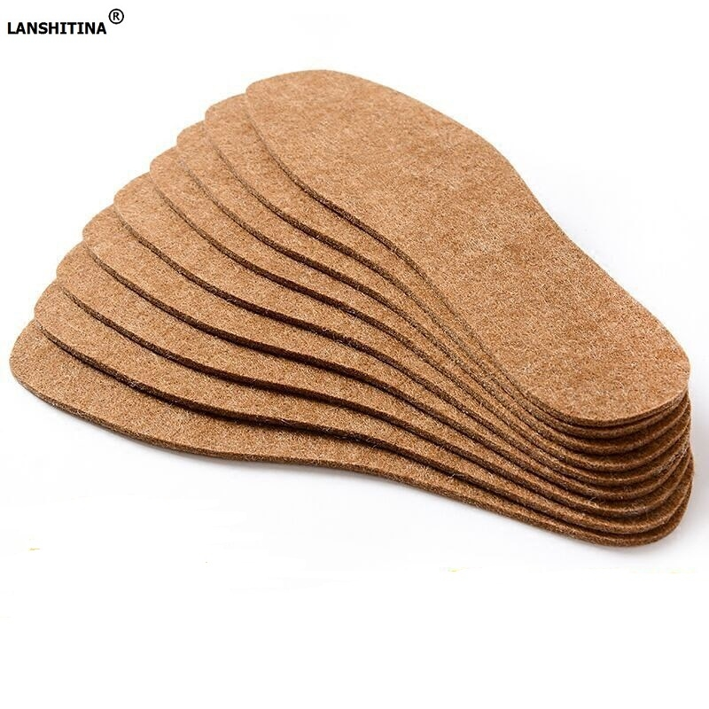 Shoe Accessories Insoles 10pairs/pack Winter Insoles Wool Felt Insole Warm Shoe Pad Anti-foot Odor Sweat Shock Absorbing Inlegzolen Accessoire Inserts Promoting Health And Curing Diseases