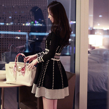 Большой размеры для женщин утягивающая одежда для полных mm иностранных дыхательная маска мясо платье жира сестра осенне зимняя одежда новый