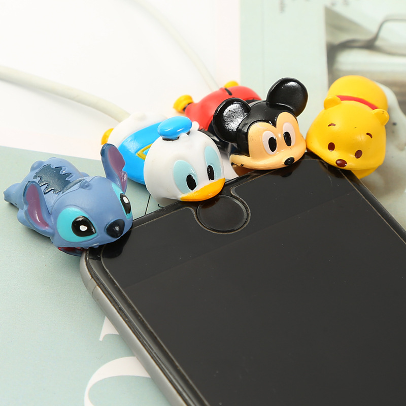 Dropshipping Stitch Donalde Micky Mouse Cable Bite Cosplay Accessory Protects Animals Chompers USB Protective Case Smart cover