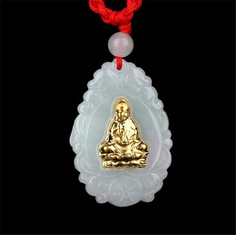 TJP offres spéciales Guanyin Jade bonne chance Top qualité hommes femmes colliers seulement pour bijou livraison gratuite