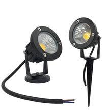 Светодиодный свет сада 12 V 3 W COB IP67 Водонепроницаемый открытый садовый прожектор Спайк светодиодный светильник лужайки prikspot tuinspot пейзаж освещения