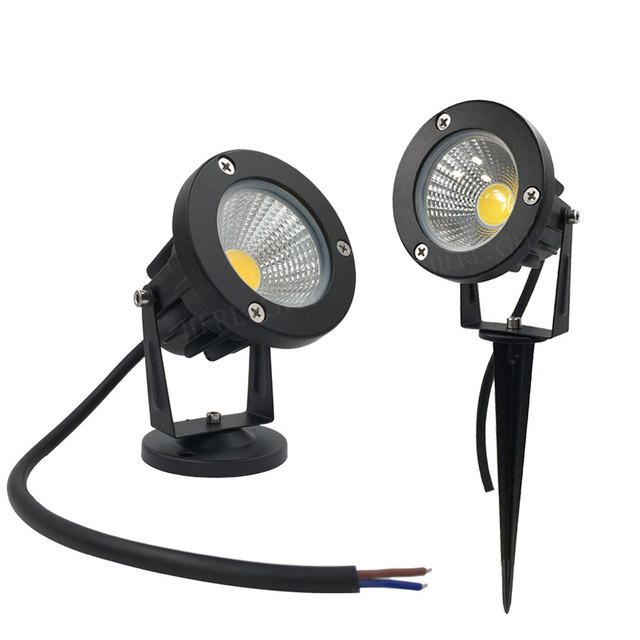 led garden light 12v 3w cob ip67 waterproof outdoor garden spot light spike led lawn lamp - Garden Spot