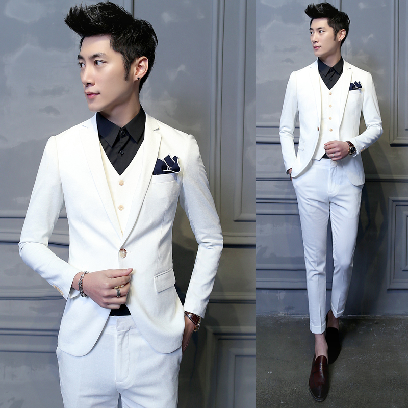 68181bddd5b 2016 Mens Blazer Wedding Suits Brand Groom Clothing Latest Coat Pant  Designs Jacket Men 3Pcs Suit White Business Blazer D013
