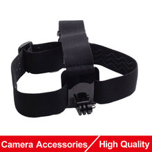Action Camera Accessories Elastic Adjustable Head Strap Mount for Gopro Hero 5 4 3 Accessory SJCAM SJ4000 EKEN H9 Xiaomi Yi Cam(China)