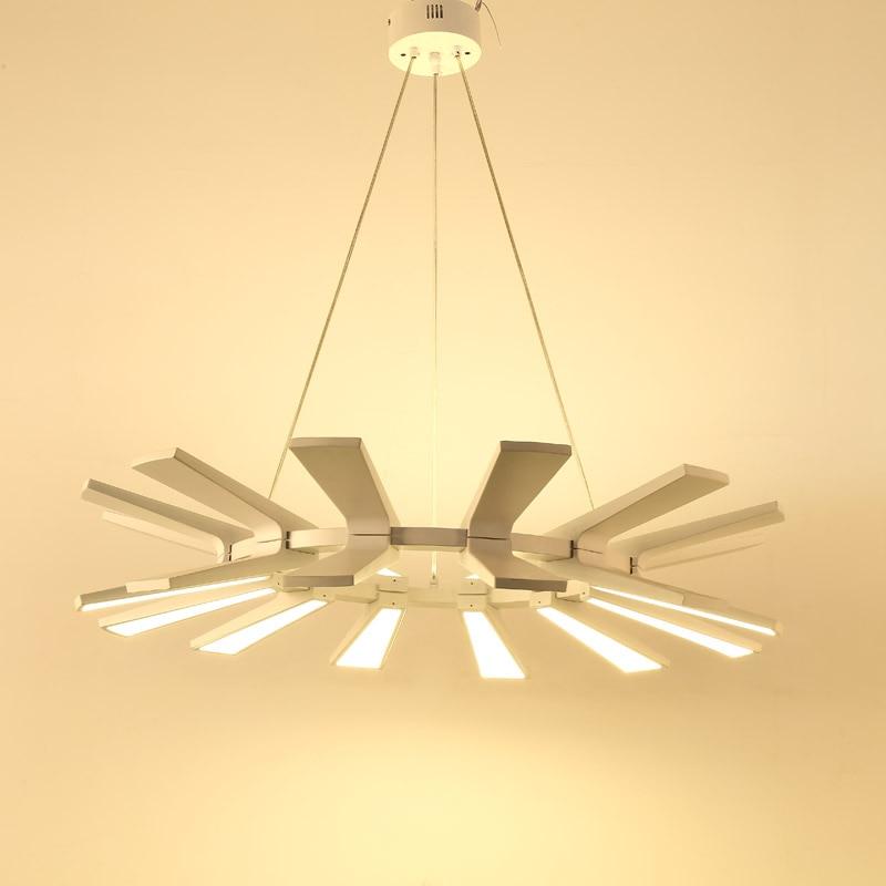 Modern White Led Chandelier Lighting Design Lamp Lustre Living Room Kitchen Foyer Loft Decor Home Light Fixture luminaria 220V