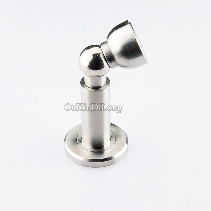Deluxe 2PCS/lot 304 Stainless Steel Casting Powerful Door Floor Magnetic Stop Stopper Adjustable Door Stop Holder/Catch