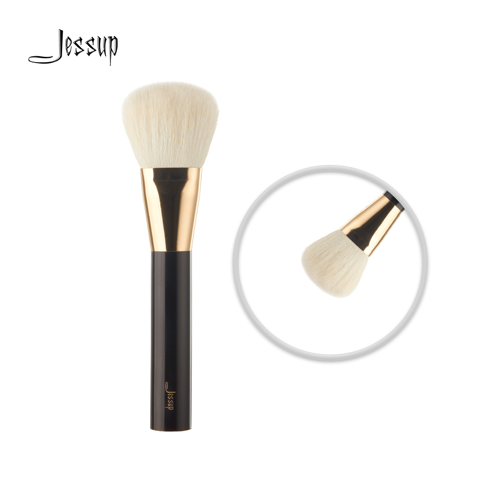 Jessup Brushes Pro Makeup brushes cosmetics Make up brush Tool powder foundation Bronzer 05# Wool Hair Acrylic Handle jaf silicone cosmetics cleanser makeup brush cleaner glove make up brushes cleaning tool gloves reshaping the hair of brush gl02