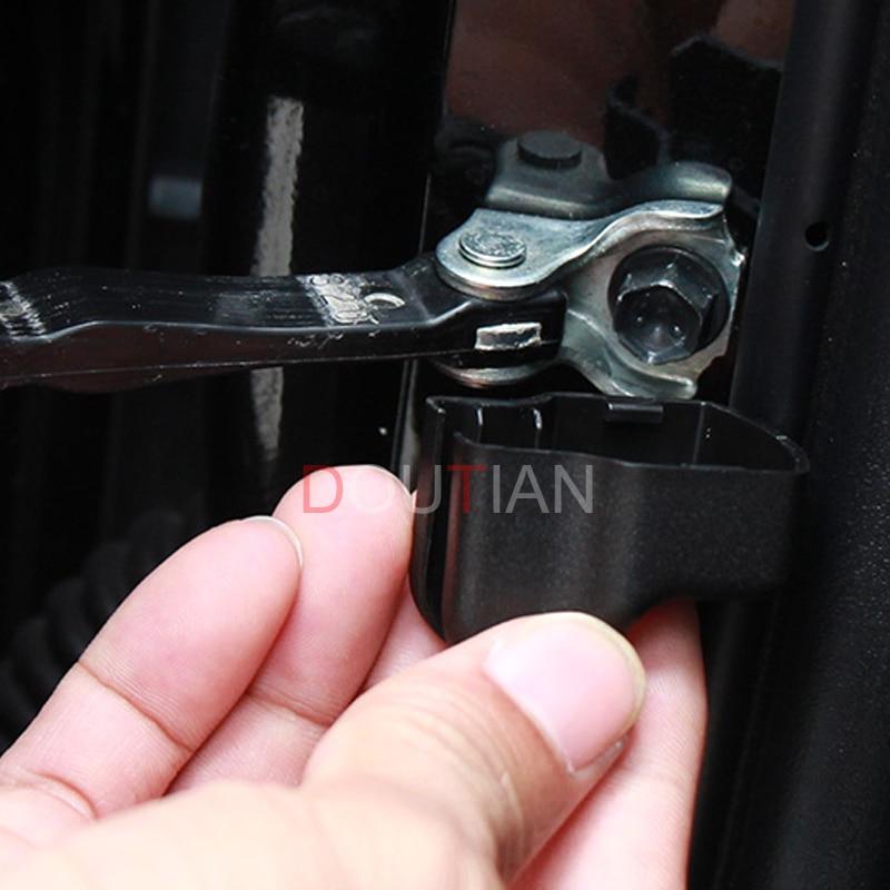 4Pcs/set Plastic Door Check Stop Snubber Arm Protection Rust Waterpr For Toyota C-HR CHR 2016 2017 2018 Car Accessories