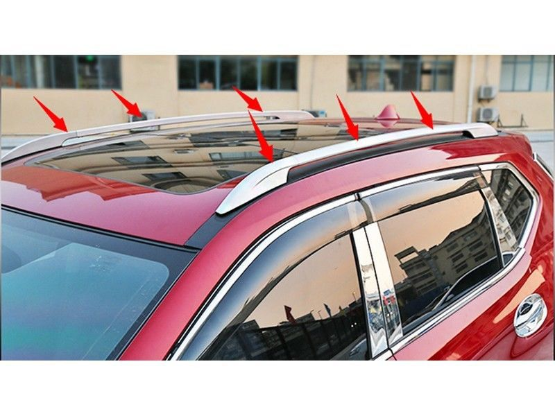 DIY Aluminum silver roof rack side rails luggage carriers bar for nissan Rogue x-trail 2014 2015 teaegg top roof rack side rails luggage carrier for hyundai tucson ix35 2010 2014