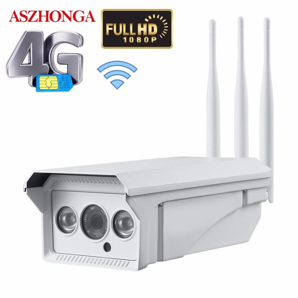 1080P HD Bullet Wireless IP Camera Wi Fi 3G 4G SIM Card Security Camera Outdoor Waterproof