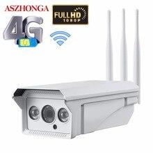 1080P HD Bullet cámara IP inalámbrica WiFi 3G 4G tarjeta SIM cámara de seguridad al aire libre impermeable IR visión nocturna CCTV vigilancia