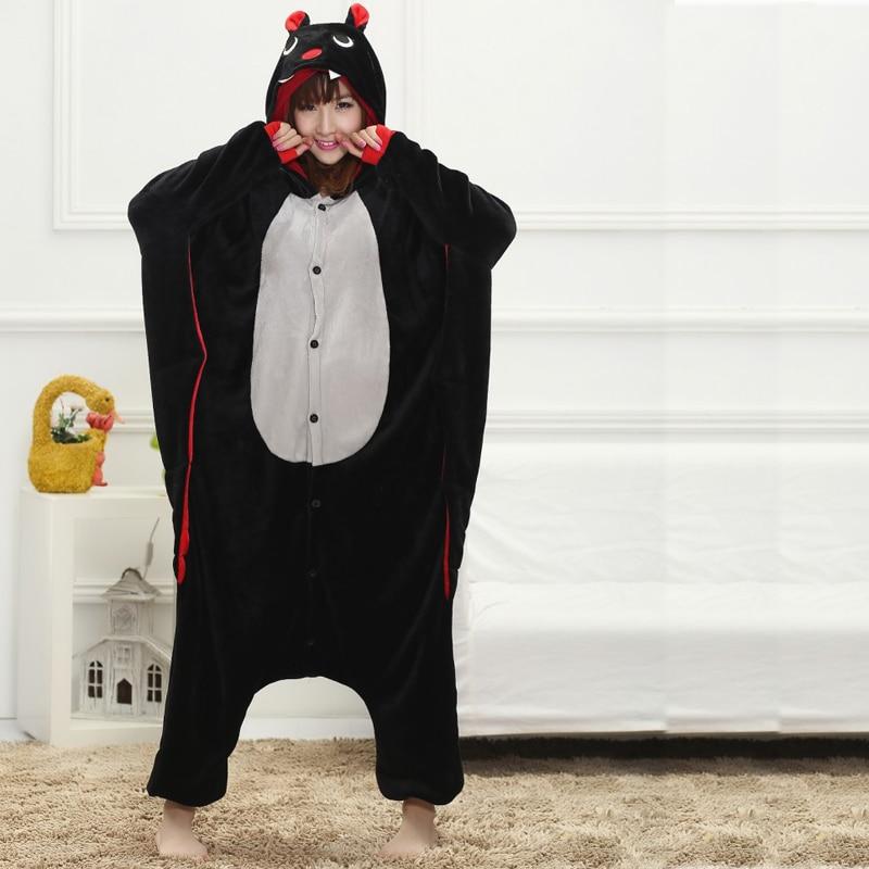 71abc8bec0 Funny Animal Onesie Bat Kigurumi For Adult Pajamas Women Men Cosplay Onesies  Sleepwear One piece Pyjamas Halloween Costume Large on Aliexpress.com