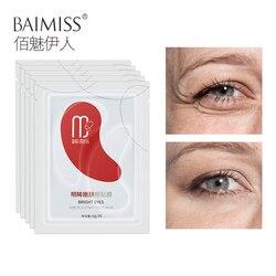 BAIMISS 5 пар/10 шт Улучшенная Антивозрастная маска для глаз Сыворотка для омоложения кожи патчи для глаз Уход удаление морщин темный круг отечн...