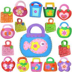 Шт. 1 шт.. цветные сумки EVA игрушка сумка через плечо DIY мультфильм детский сад ручные Развивающие игрушки для детей